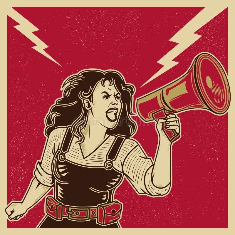 宣传女权主义 向量例证