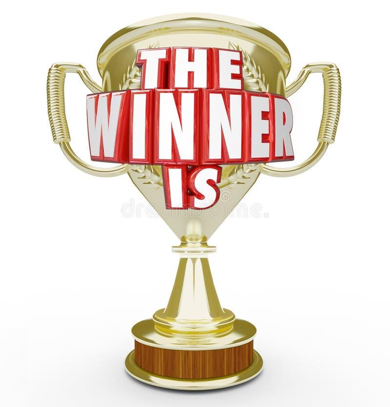 宣布的优胜者是金战利品奖高级执行者 皇族释放例证