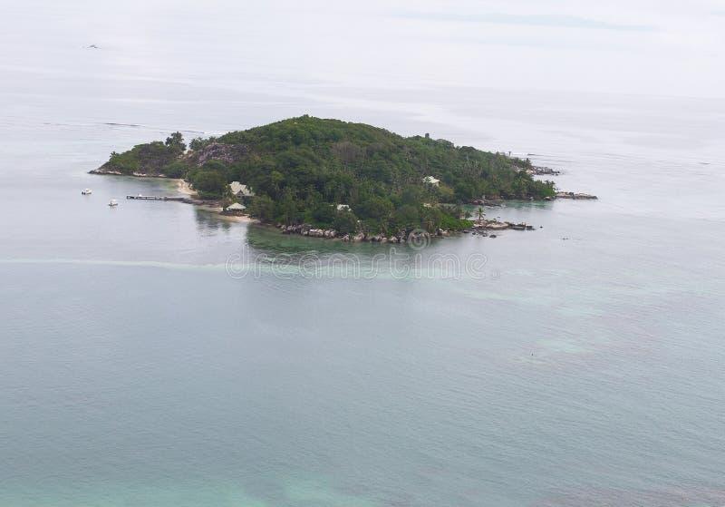 宣扬热带的海岛 库存照片