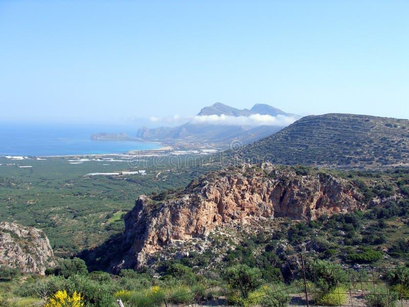 宣扬照片, Falasarna,干尼亚州,克利特,希腊 免版税图库摄影
