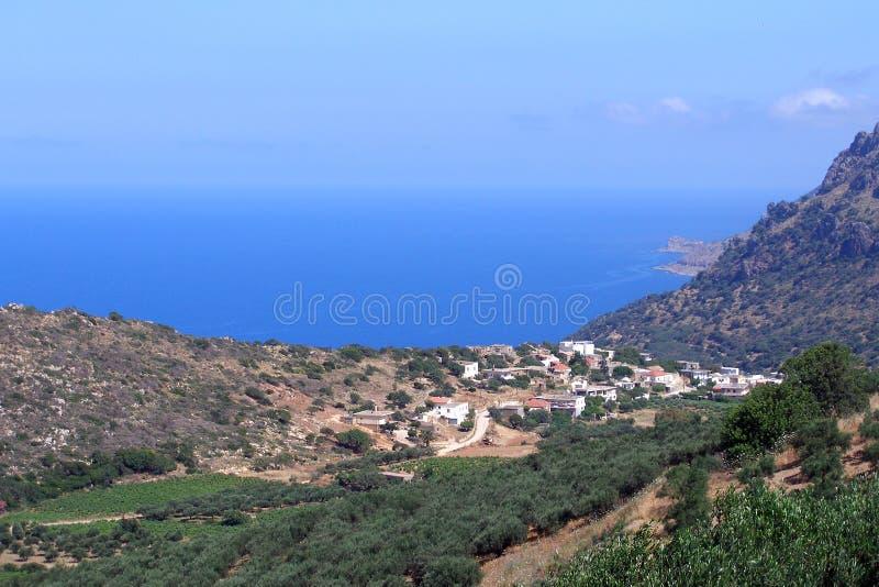 宣扬照片, Kissamos,干尼亚州,克利特,希腊 免版税库存图片