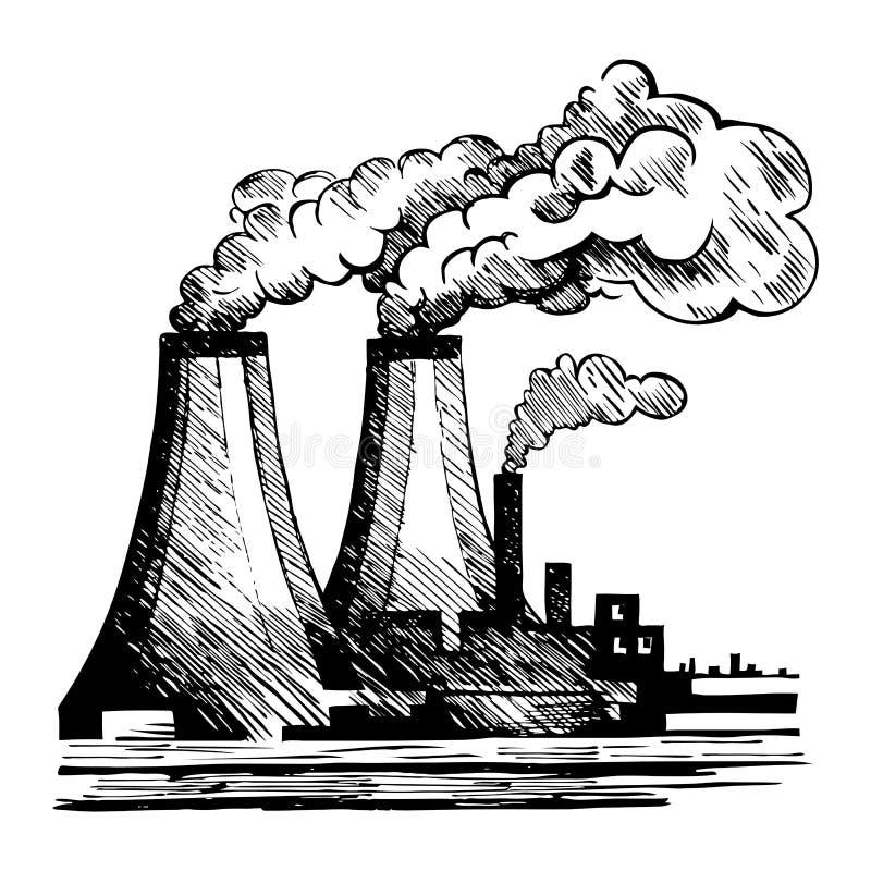 宣扬生态和大气污染的问题 向量例证