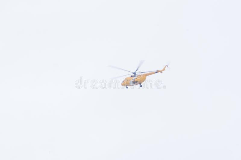 宣扬航空器徽章拿着军用盾剑的老鹰强制 多用途直升机 在使用中与直升机飞行的军队的 图库摄影