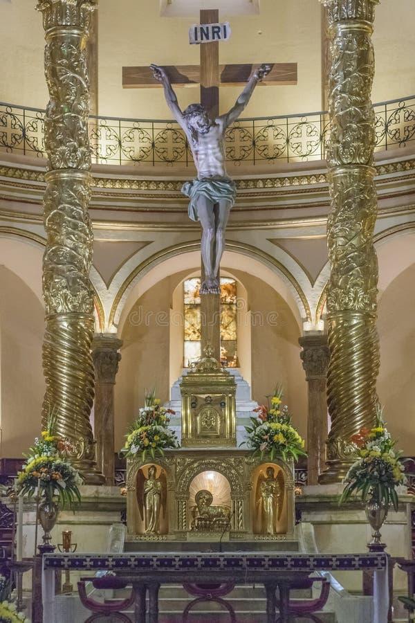 宣武门天主堂昆卡省厄瓜多尔 免版税库存照片