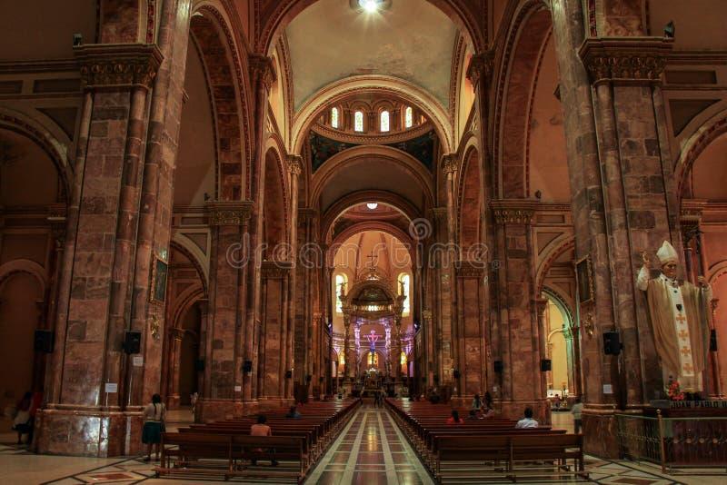 宣武门天主堂,昆卡省,厄瓜多尔, 免版税库存照片
