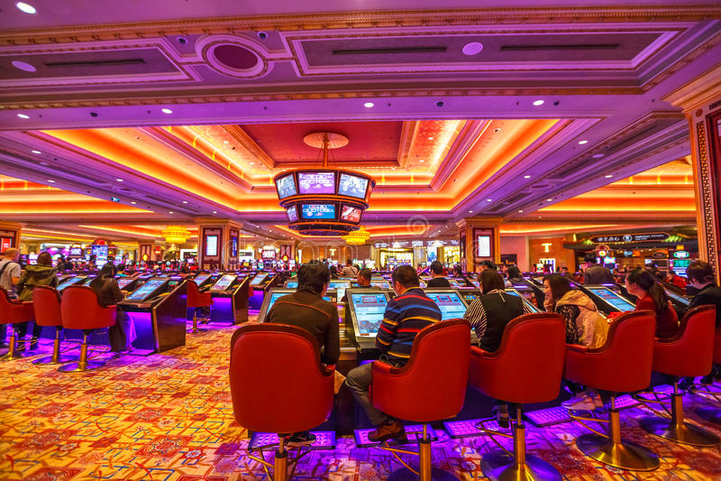 室内威尼斯式赌博娱乐场 库存照片