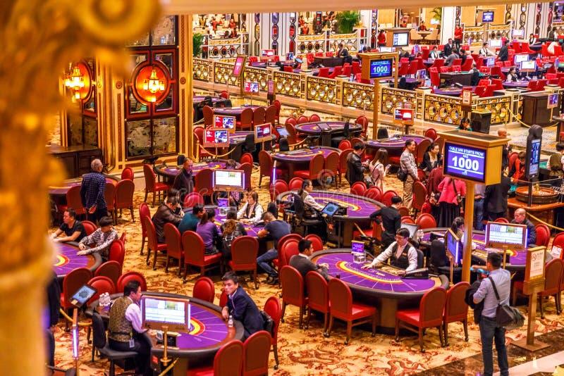 室内威尼斯式赌博娱乐场 库存图片