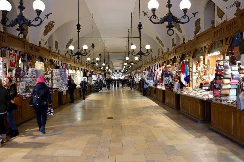 室内市场克拉科夫 免版税库存照片