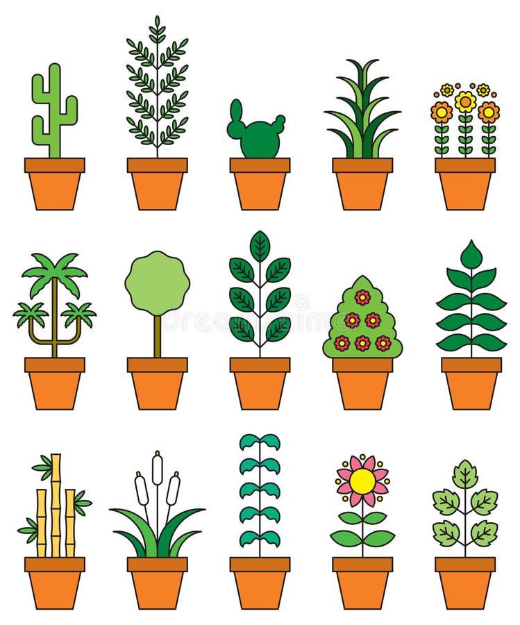 室内植物象集合 皇族释放例证