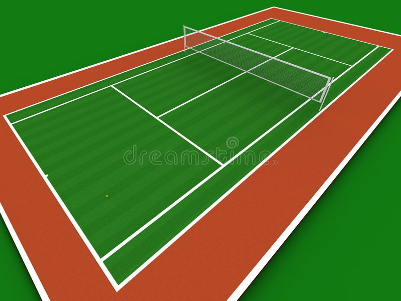 室内网球 向量例证