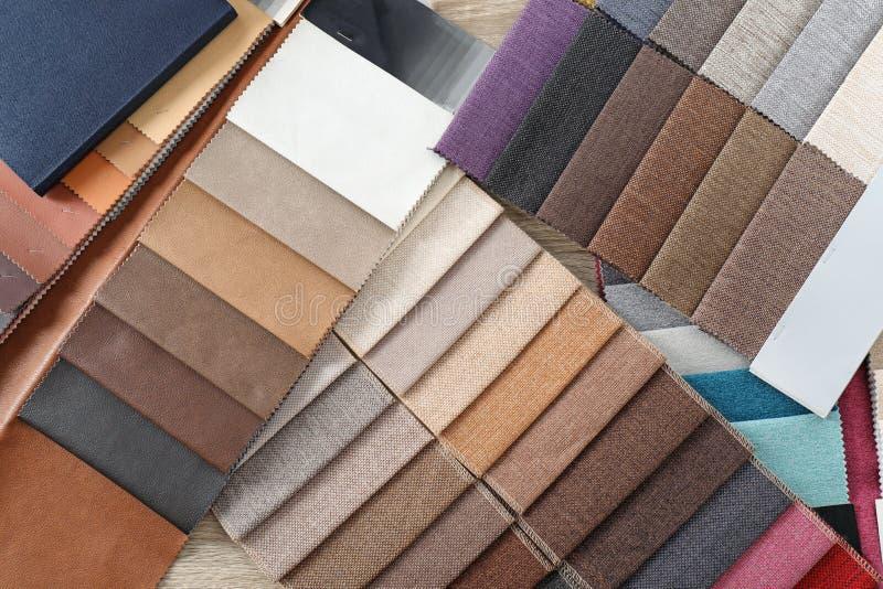 室内装璜织品样品品种  图库摄影