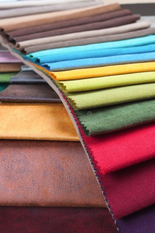 室内装璜织品的颜色样品 库存照片