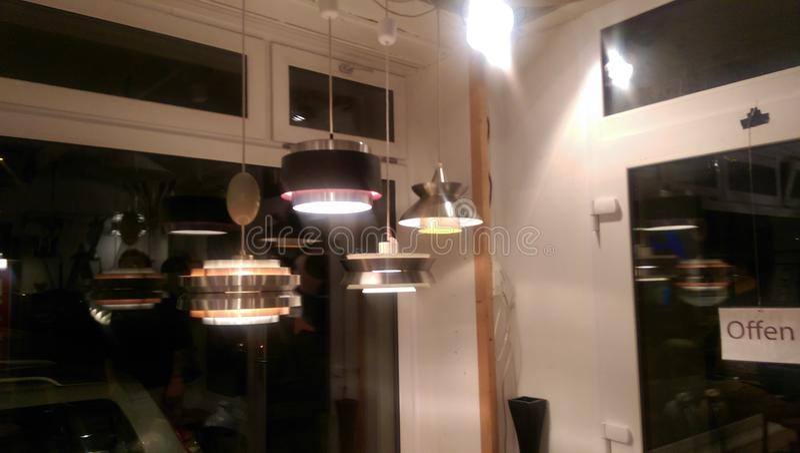室内设计灯 库存图片