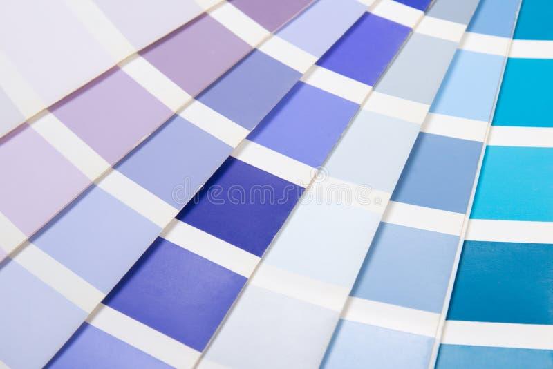 室内设计-有生动的颜色的五颜六色的调色板 免版税库存图片
