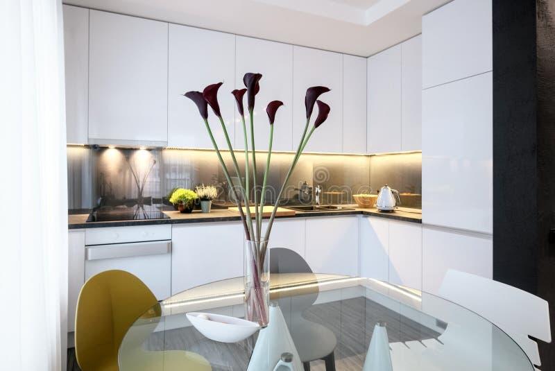 室内设计-现代厨房 免版税库存图片