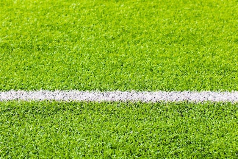室内足球,足球场人为草,拷贝空间 免版税库存图片
