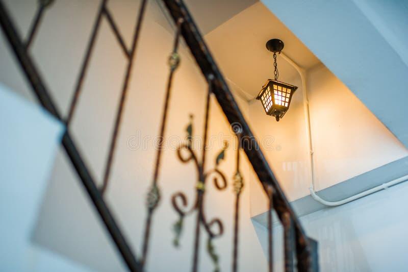 室内金属栏杆 免版税图库摄影