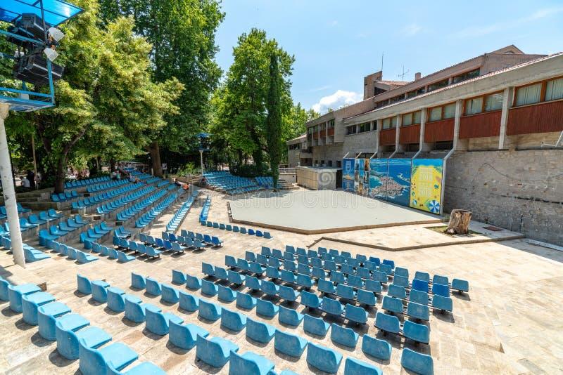 室外剧院地面在索佐波尔,保加利亚 库存图片