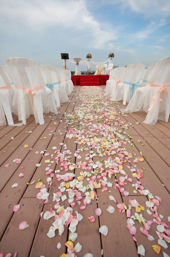 室外培训地点婚礼 免版税库存图片