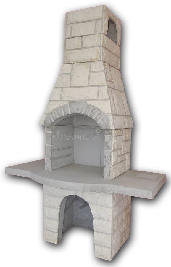 室外壁炉和格栅 图库摄影