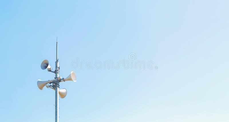 室外扩音器警报系统 库存图片