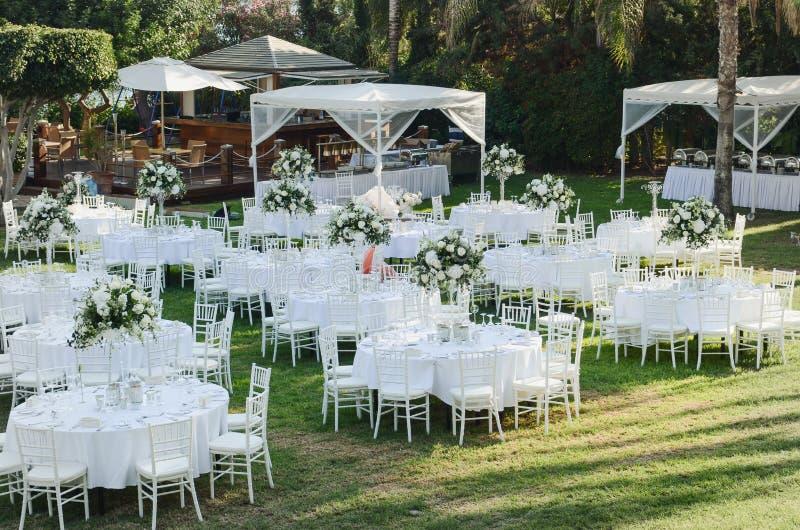 室外接收婚礼 婚礼装饰 库存图片