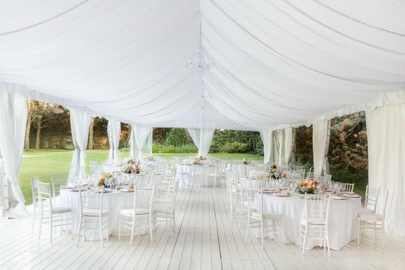 室外接收婚礼 免版税图库摄影