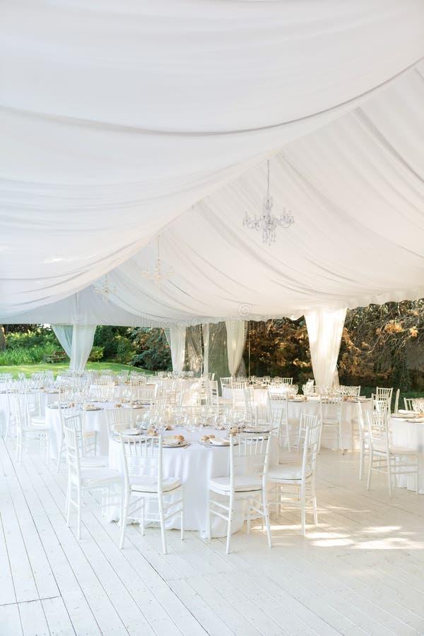 室外接收婚礼 免版税库存图片