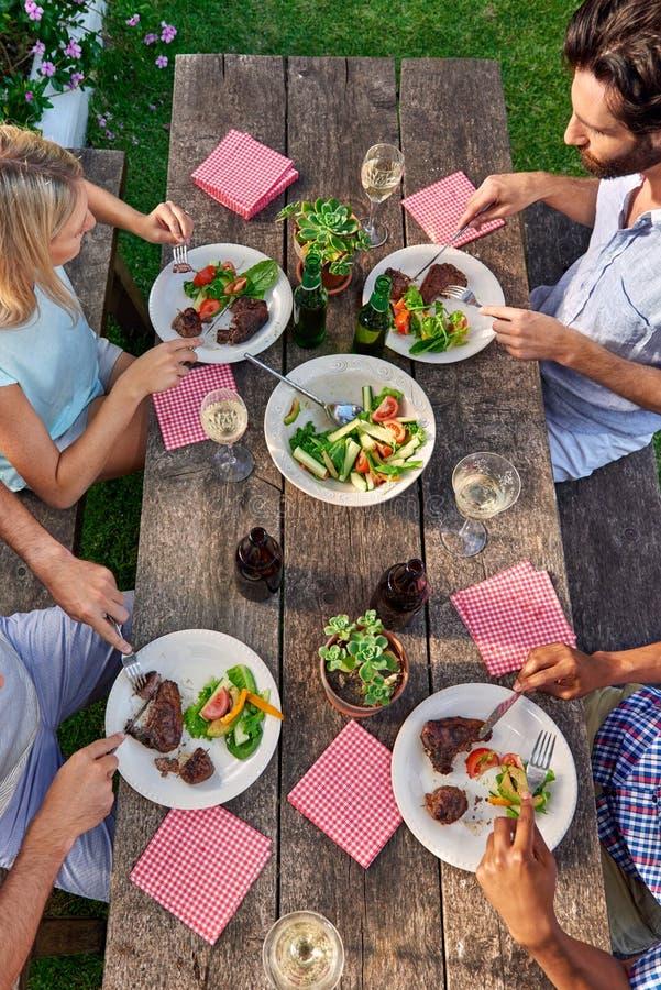 室外晚餐会 库存图片