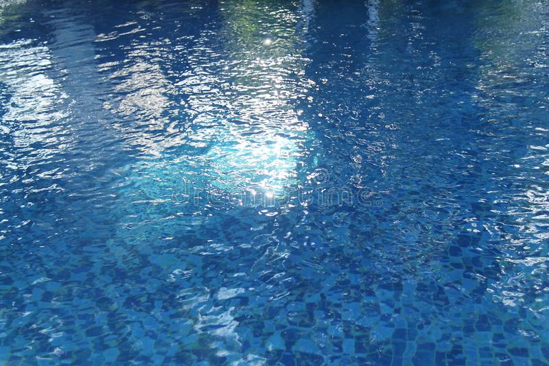 室外水池,因此安静和放松,版本9 图库摄影