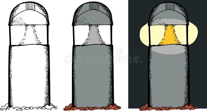 Download 室外灯 向量例证. 插画 包括有 对象, 陆运, 背包, 照亮, 空白, 黑暗, 过帐, 晚上, 查出, 设备 - 30326536