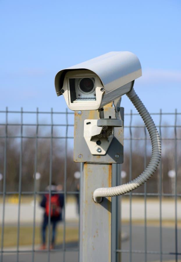 室外照相机的监视 免版税图库摄影