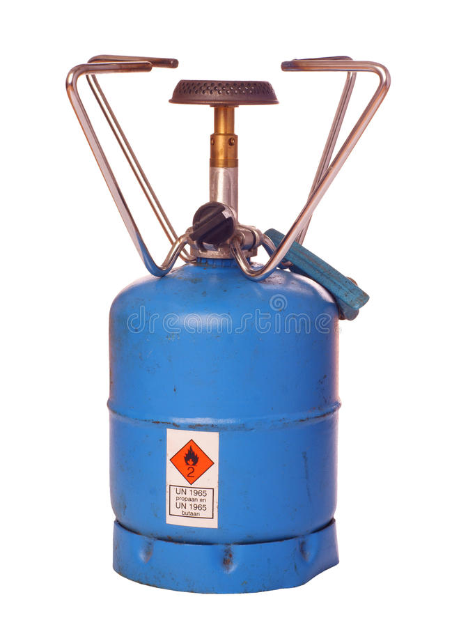 室外燃烧器的丁烷 库存照片
