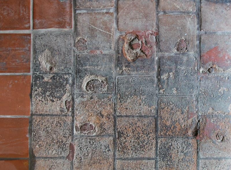 室外瓦片地板纹理 库存照片