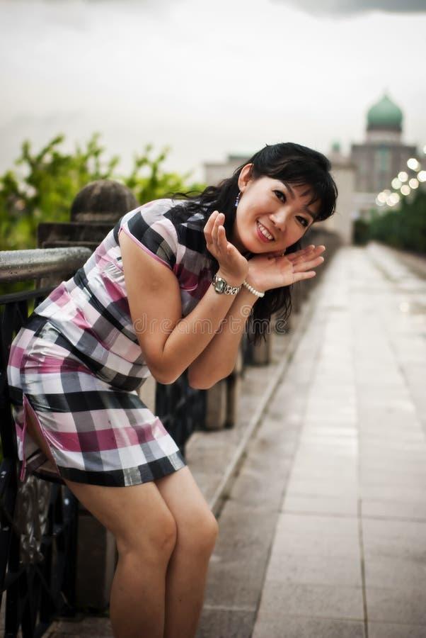 室外的中国办公室夫人,布城,马来西亚 免版税库存照片