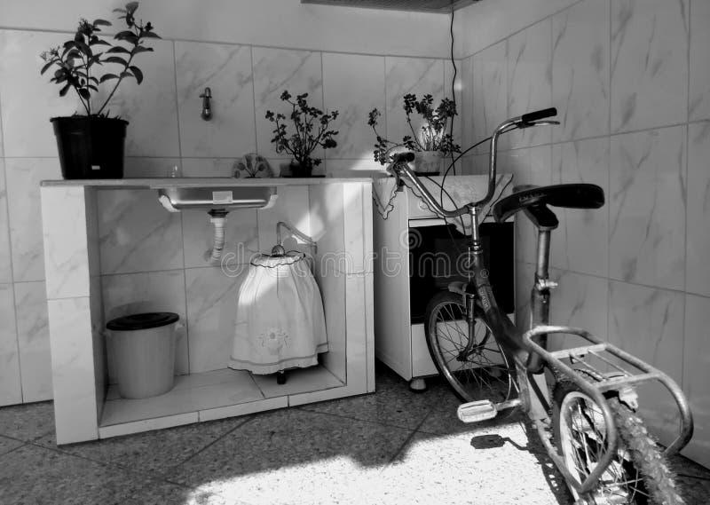 室外的厨房 库存图片