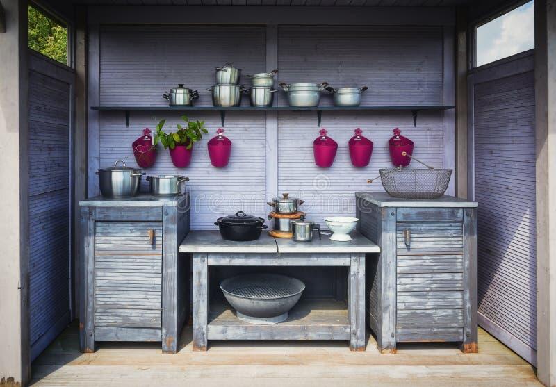室外的厨房 免版税图库摄影