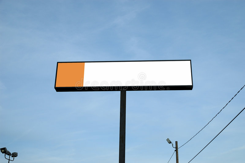 室外的广告牌 库存照片