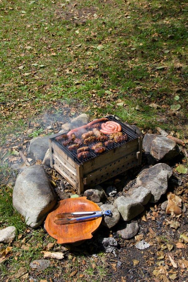 室外的烤肉 免版税库存图片