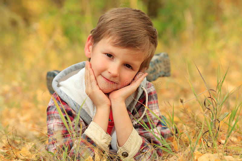 Download 室外的男孩 库存图片. 图片 包括有 微笑, 少许, 自然, 愉快, 逗人喜爱, leafage, 森林 - 22355549