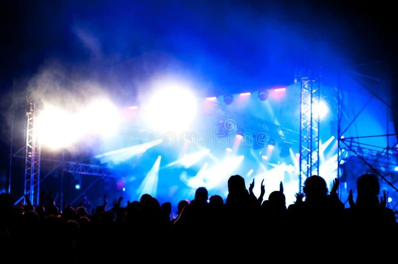 室外的音乐会 免版税库存照片