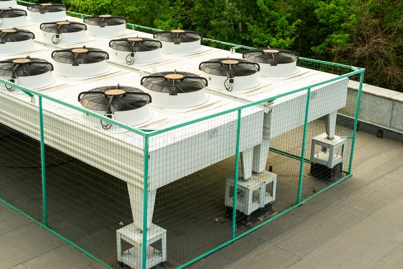 室外空调系统 免版税库存图片