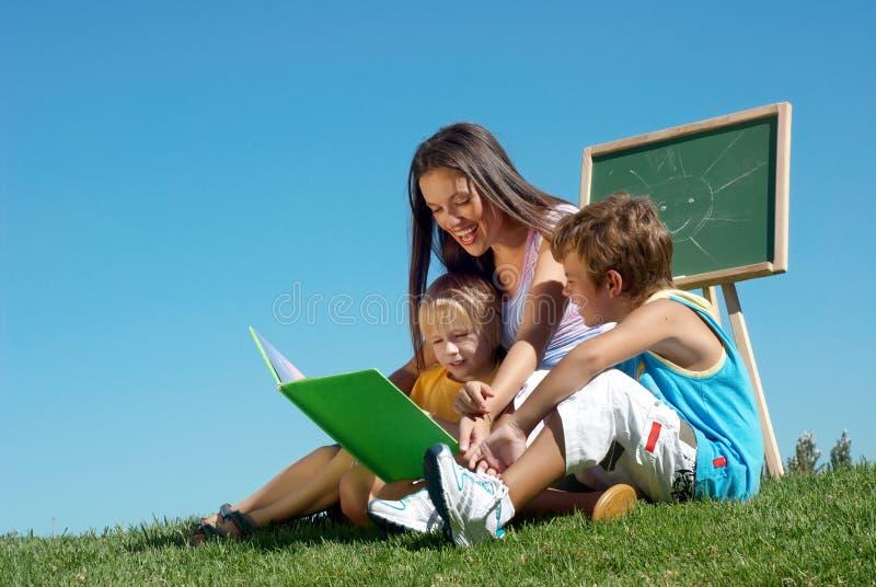 室外课程的文件 免版税库存照片