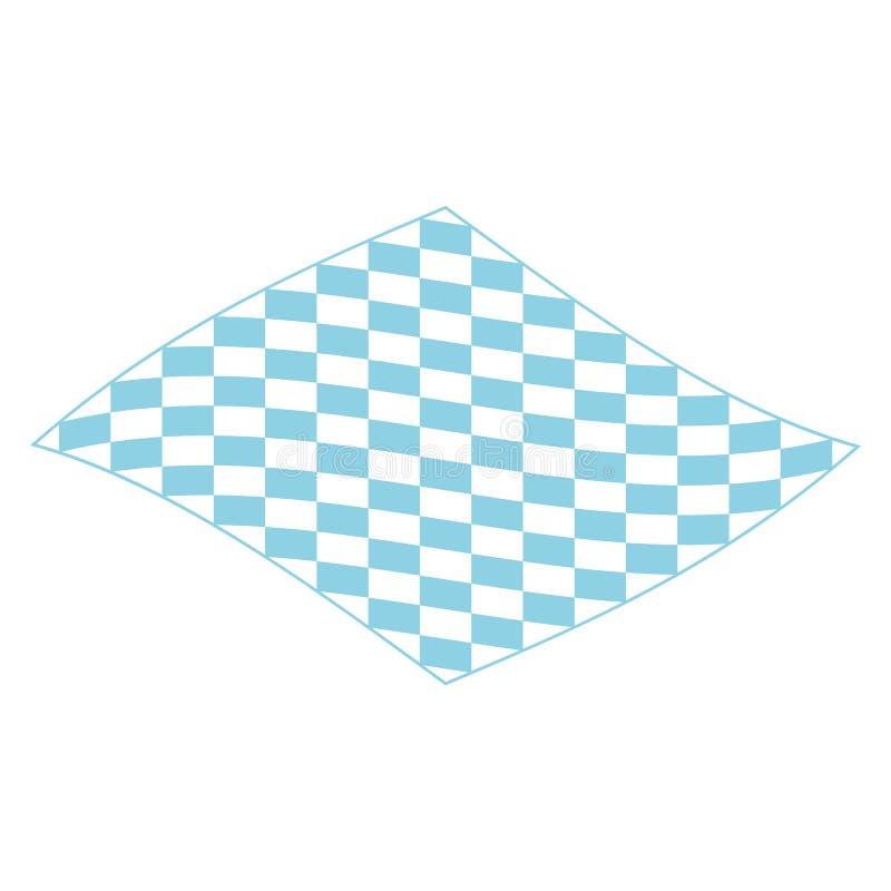 室外象的,等量样式野餐毯子 向量例证