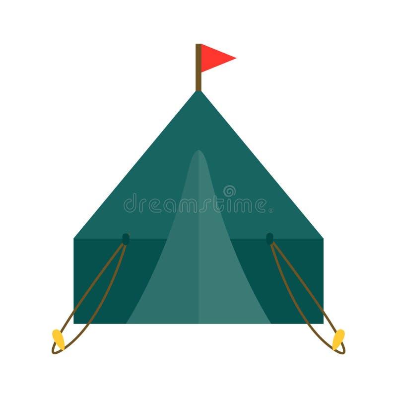 室外远足假期森林的帐篷传染媒介例证自然休闲旅行活动野营的阵营冒险旅游业 向量例证