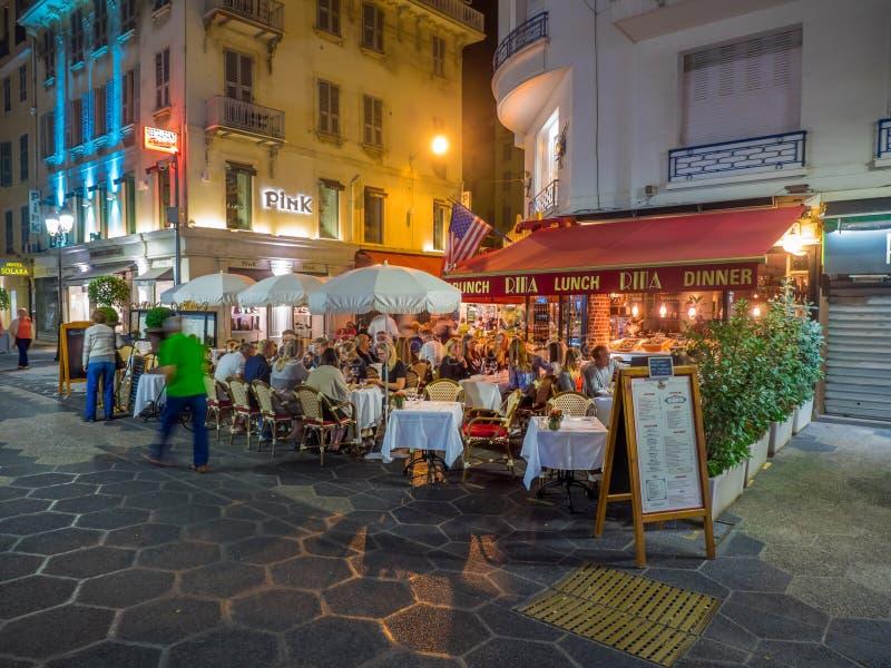 室外餐馆和酒吧 免版税库存照片