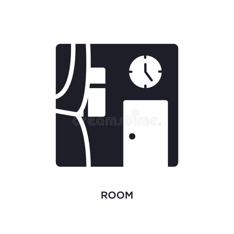 室被隔绝的象 从清洗的概念象的简单的元素例证 在白色的室编辑可能的商标标志标志设计 向量例证