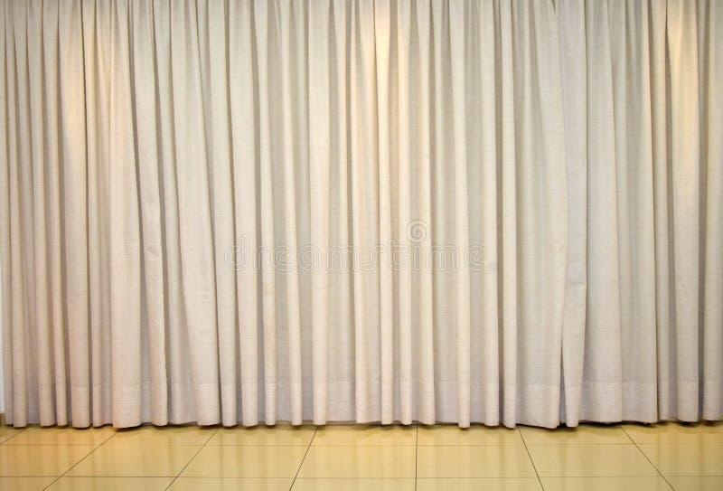 室装饰的清楚的帷幕 免版税库存图片