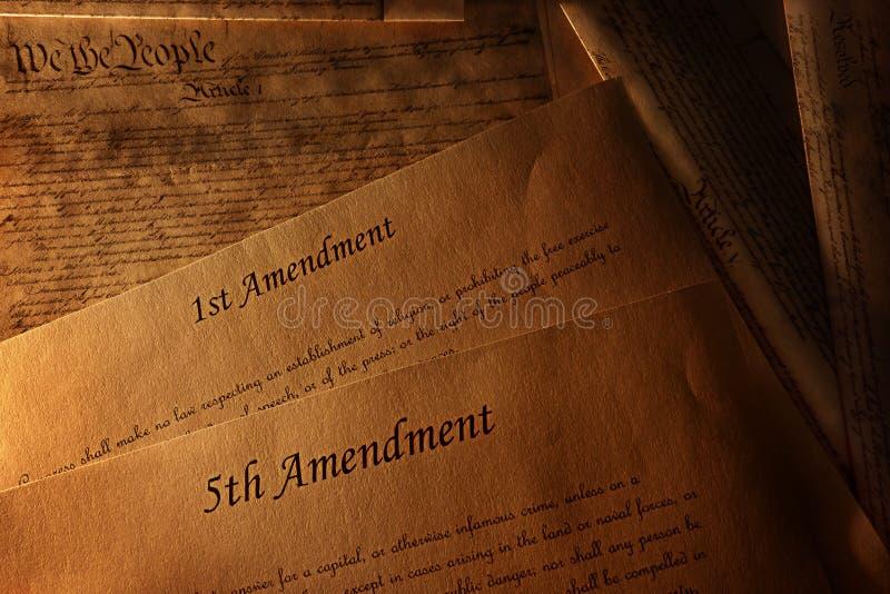 宪法和校正 免版税库存照片