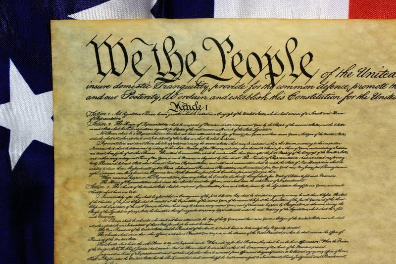 宪法团结的人状态 库存图片